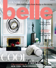 Waddell's 'Headland' exhibition featured in Nov 2015 issue of Belle Magazine