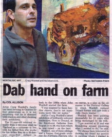 'Dab Hand on Farm' Article in Hills Shire Times 2004